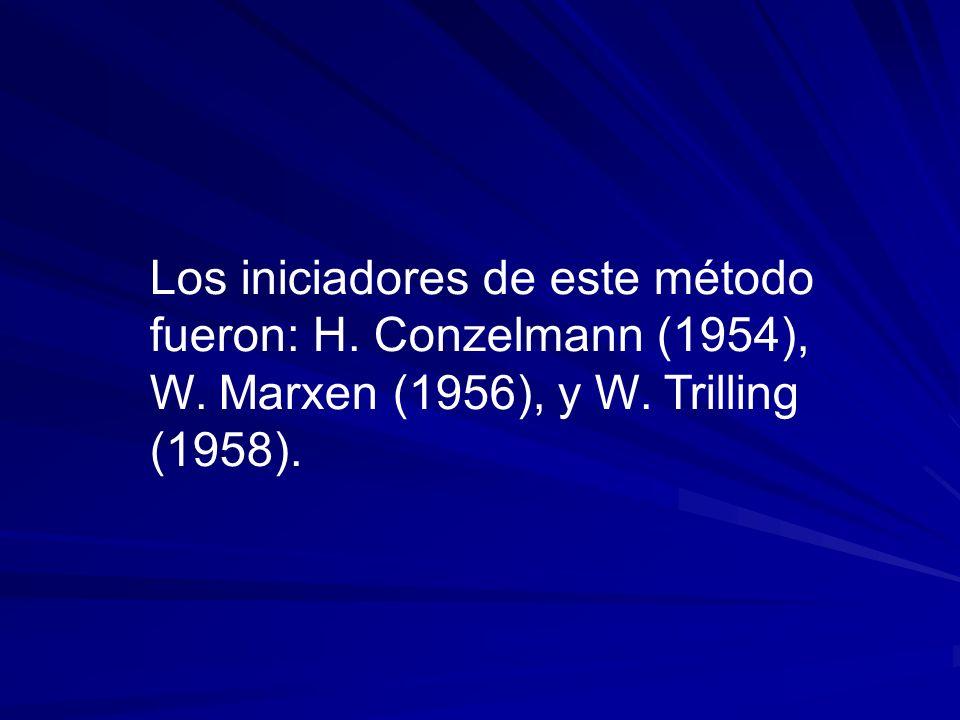 Los iniciadores de este método fueron: H. Conzelmann (1954), W