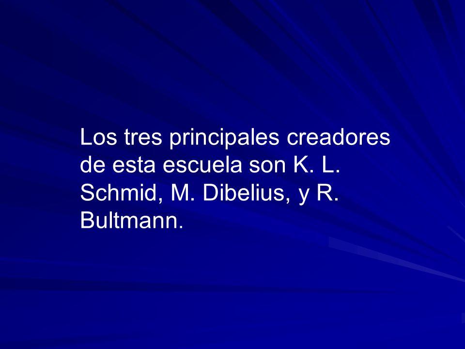 Los tres principales creadores de esta escuela son K. L. Schmid, M