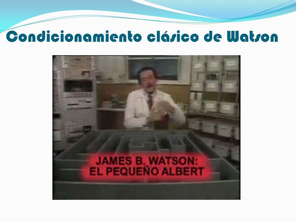 Condicionamiento clásico de Watson