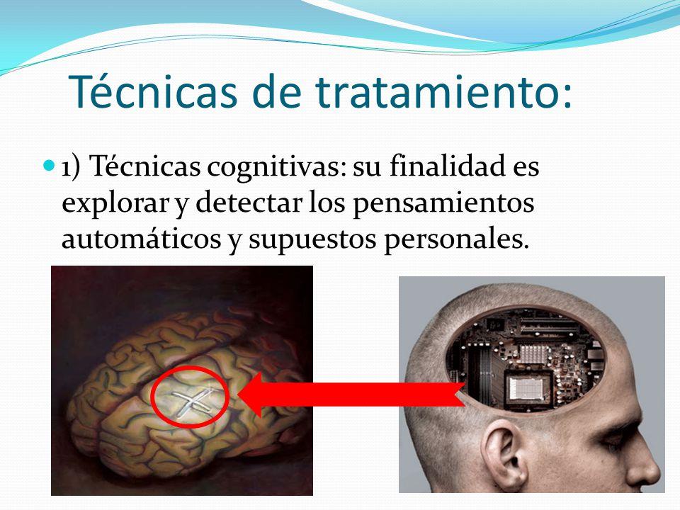 Técnicas de tratamiento: