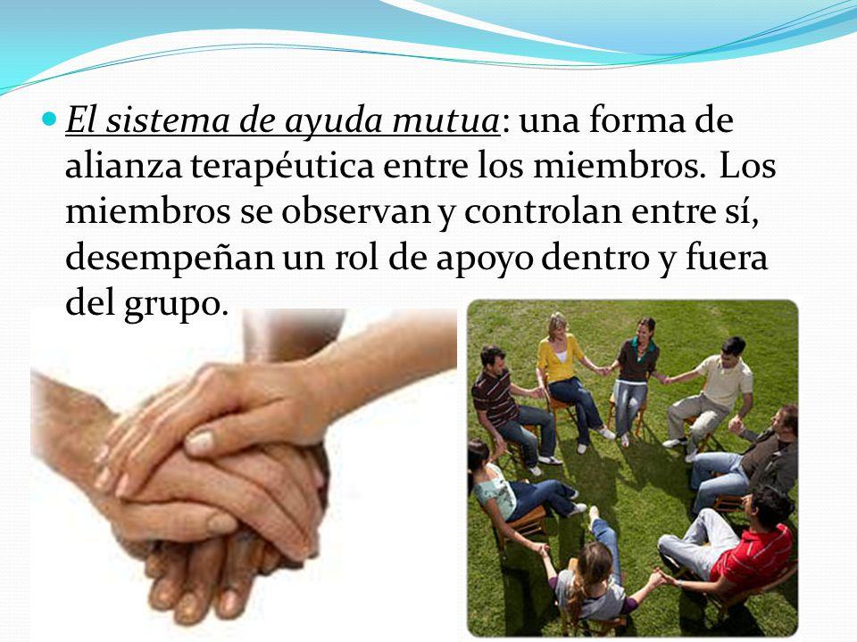 El sistema de ayuda mutua: una forma de alianza terapéutica entre los miembros.