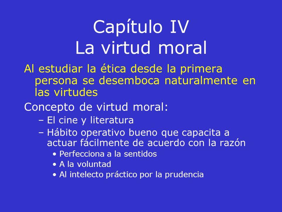 Capítulo IV La virtud moral