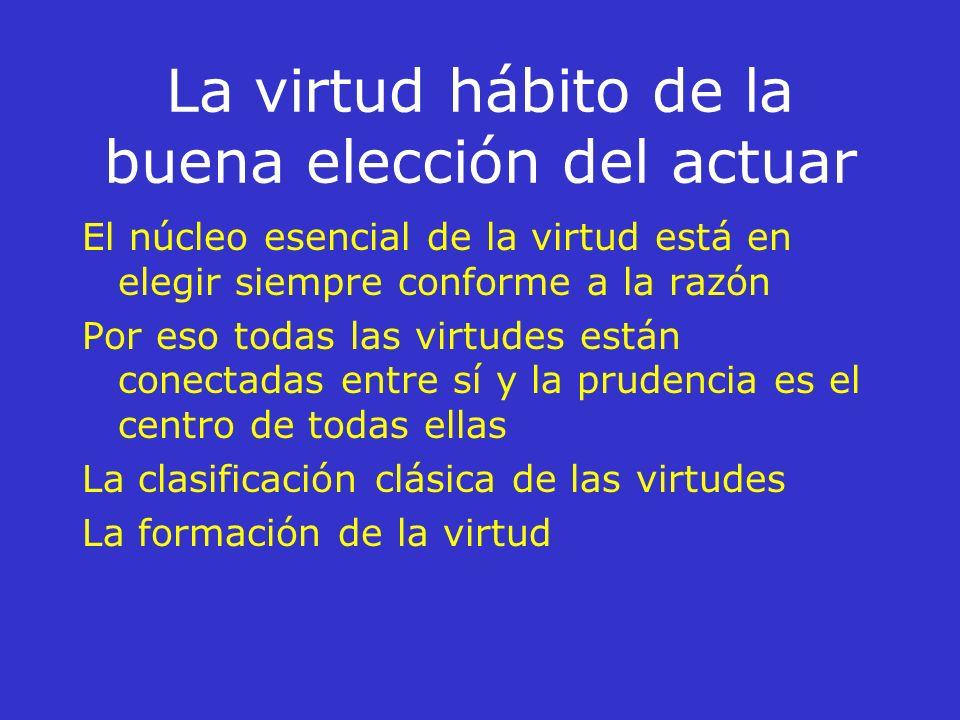 La virtud hábito de la buena elección del actuar