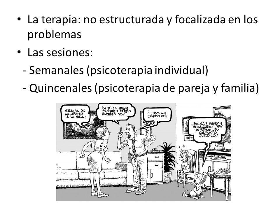 La terapia: no estructurada y focalizada en los problemas