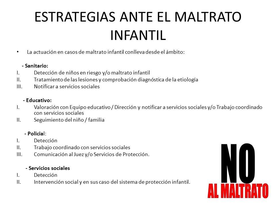 ESTRATEGIAS ANTE EL MALTRATO INFANTIL