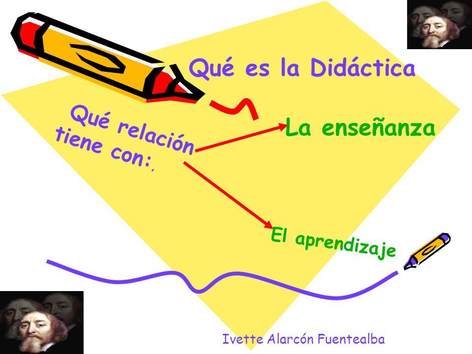 Qué es la Didáctica La enseñanza Qué relación tiene con:,