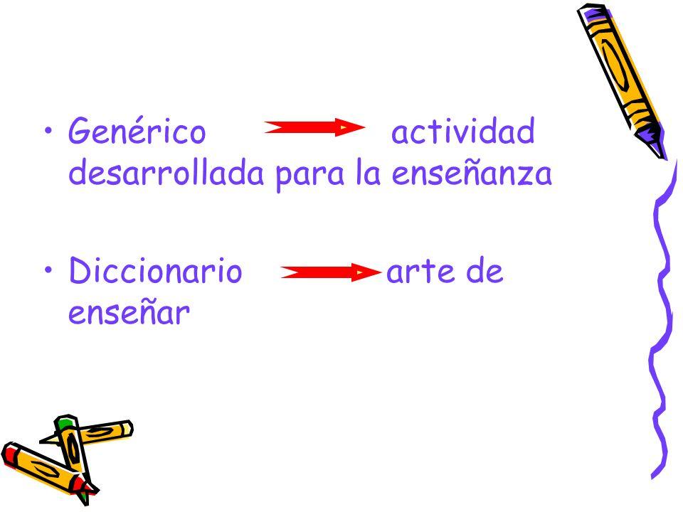 Genérico actividad desarrollada para la enseñanza