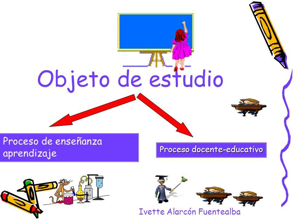 Objeto de estudio Proceso de enseñanza aprendizaje