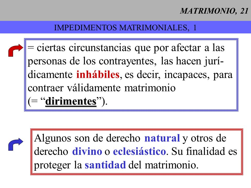 IMPEDIMENTOS MATRIMONIALES, 1