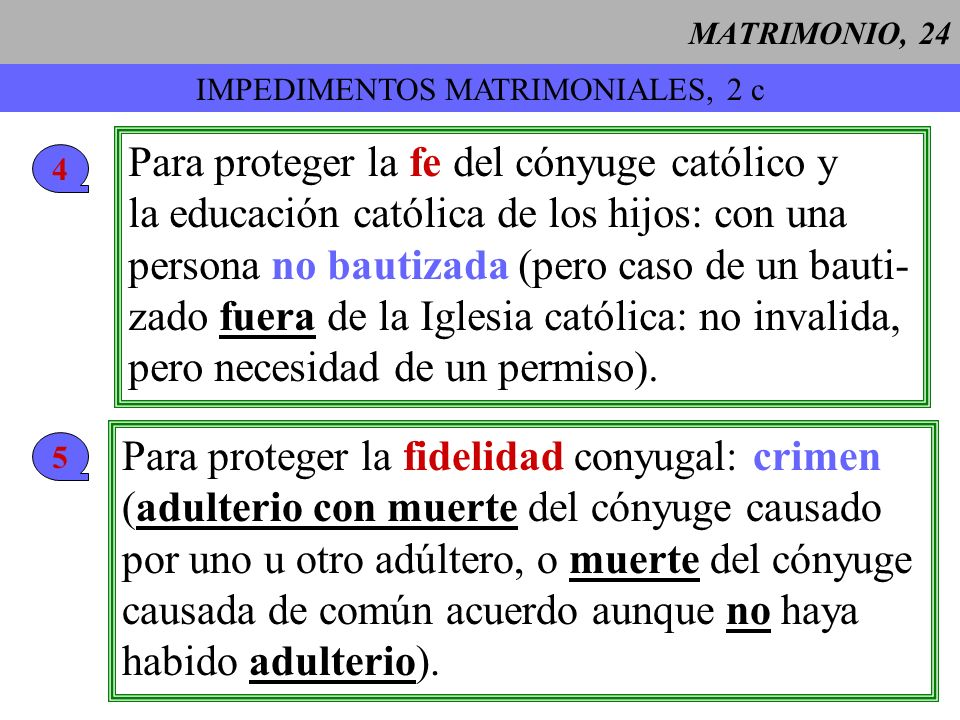 IMPEDIMENTOS MATRIMONIALES, 2 c
