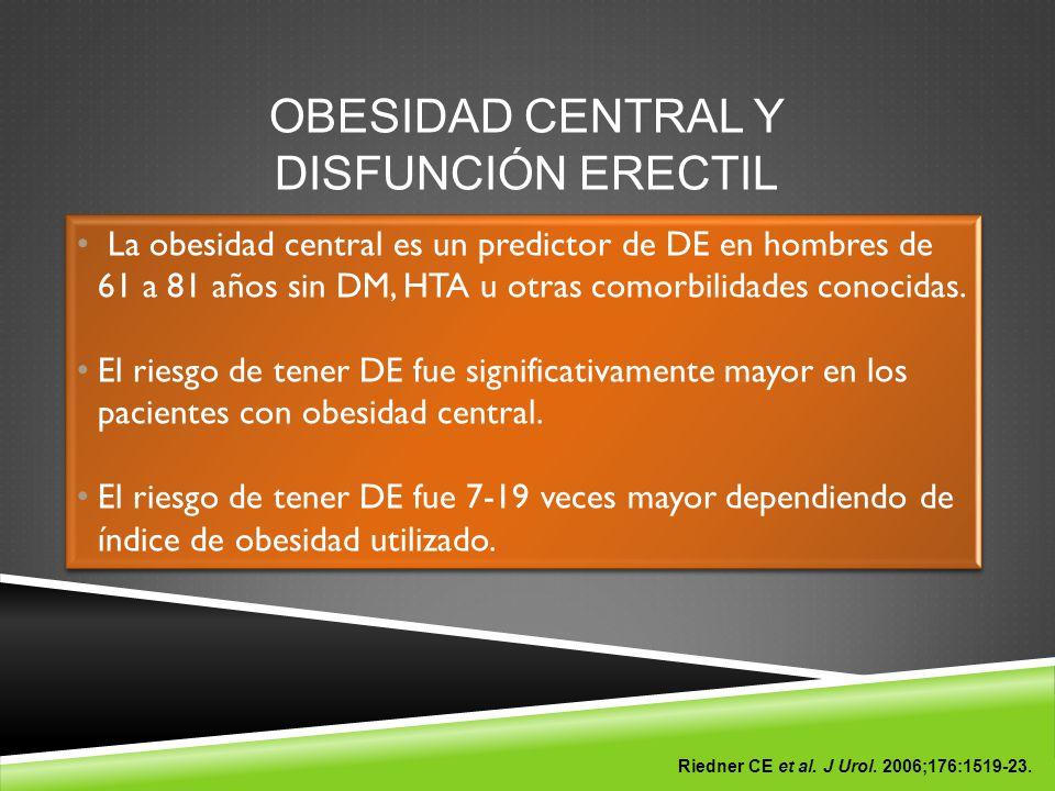 OBESIDAD CENTRAL Y DISFUNCIÓN ERECTIL