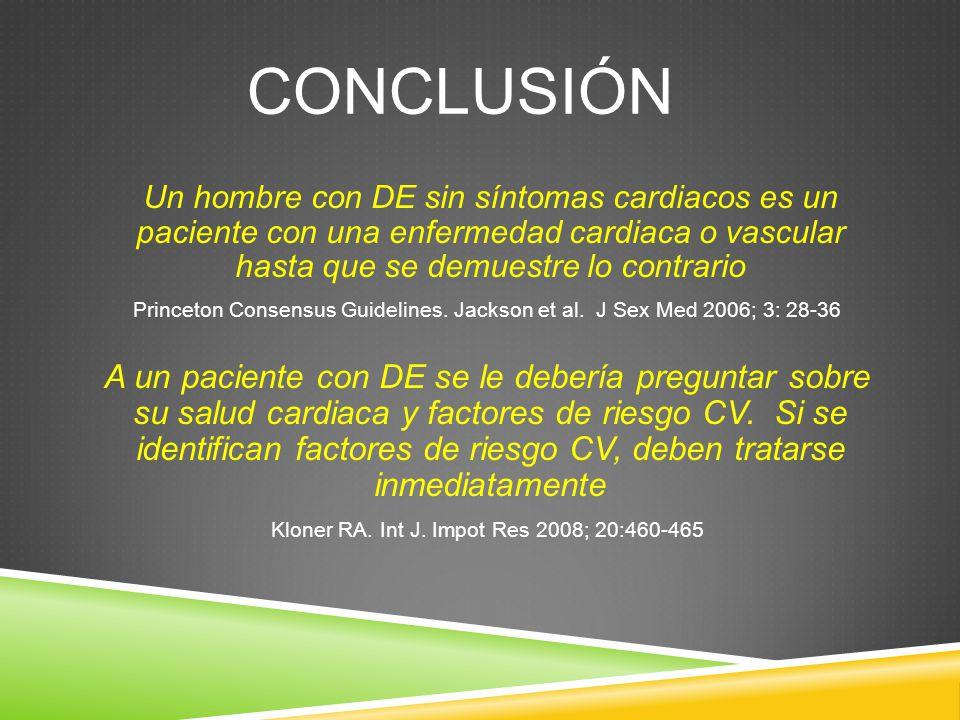 Kloner RA. Int J. Impot Res 2008; 20:460-465