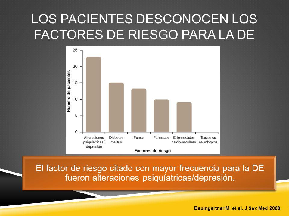 LOS PACIENTES DESCONOCEN LOS FACTORES DE RIESGO PARA LA DE