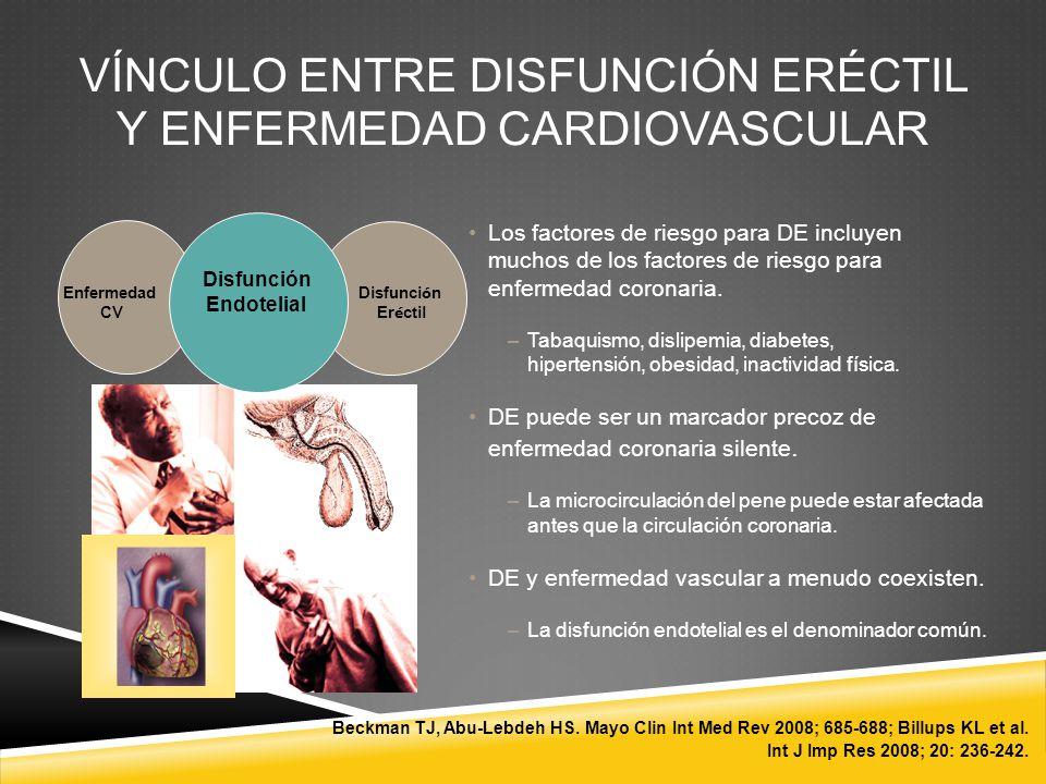 VÍNCULO ENTRE DISFUNCIÓN ERÉCTIL Y ENFERMEDAD CARDIOVASCULAR