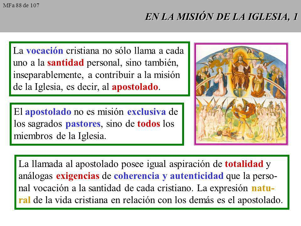 EN LA MISIÓN DE LA IGLESIA, 1