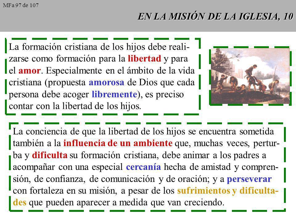 EN LA MISIÓN DE LA IGLESIA, 10