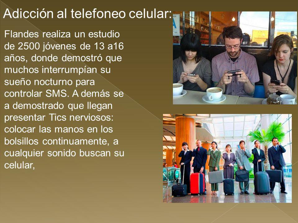 Adicción al telefoneo celular: