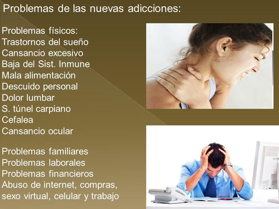 Problemas de las nuevas adicciones: