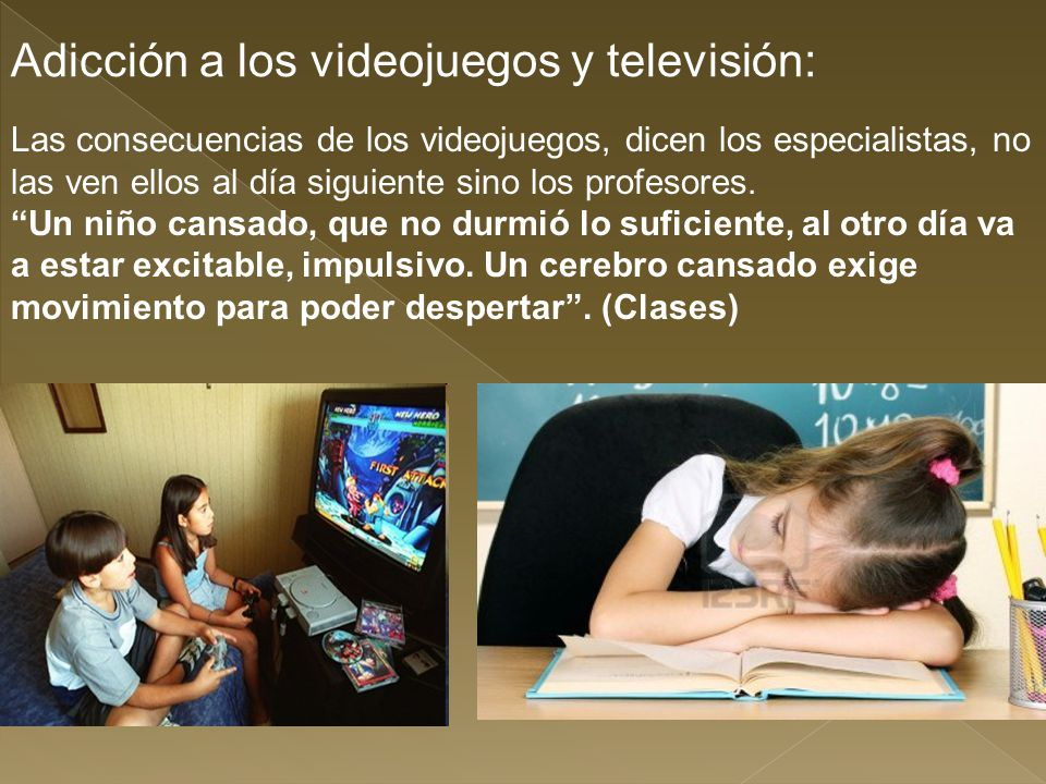 Adicción a los videojuegos y televisión: