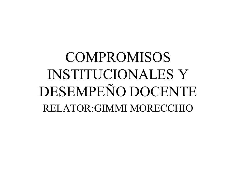 COMPROMISOS INSTITUCIONALES Y DESEMPEÑO DOCENTE