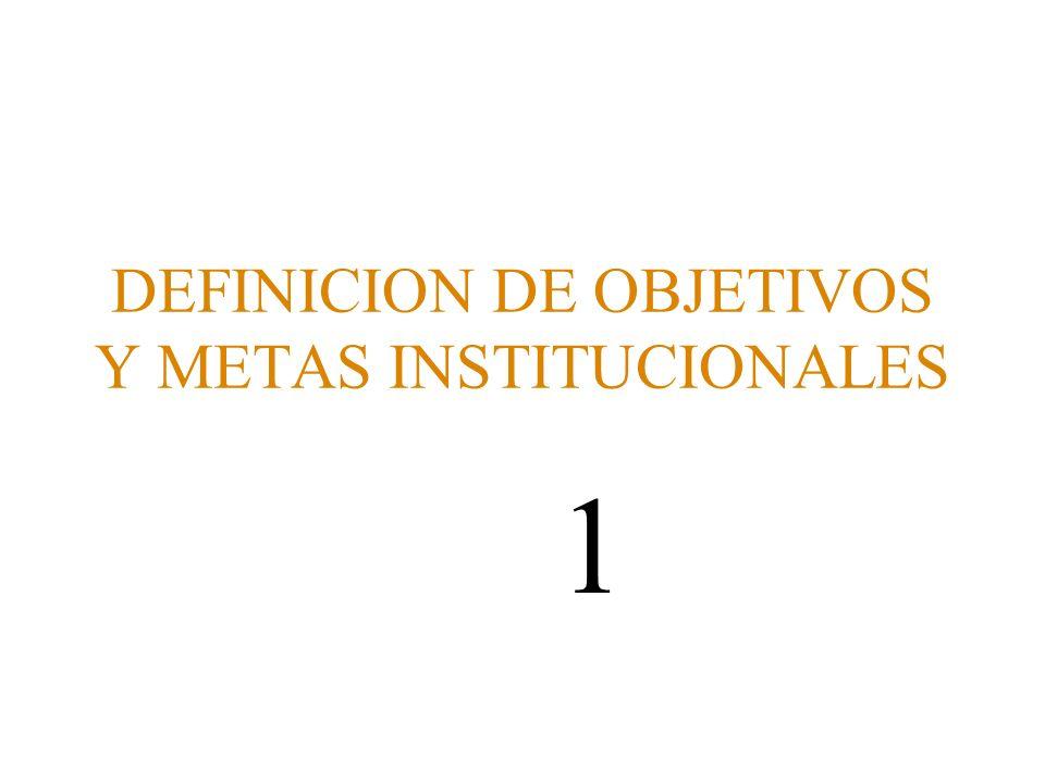DEFINICION DE OBJETIVOS Y METAS INSTITUCIONALES