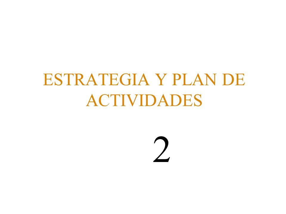 ESTRATEGIA Y PLAN DE ACTIVIDADES