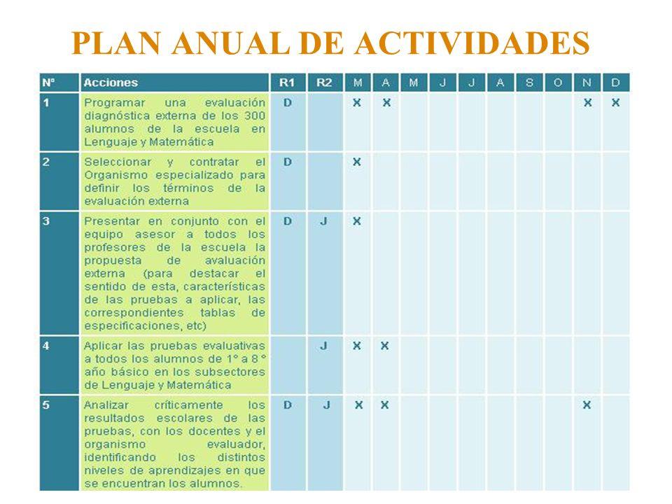 PLAN ANUAL DE ACTIVIDADES