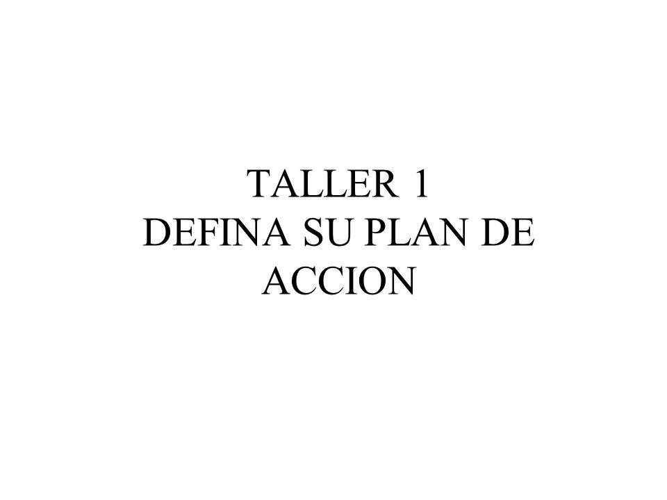 TALLER 1 DEFINA SU PLAN DE ACCION