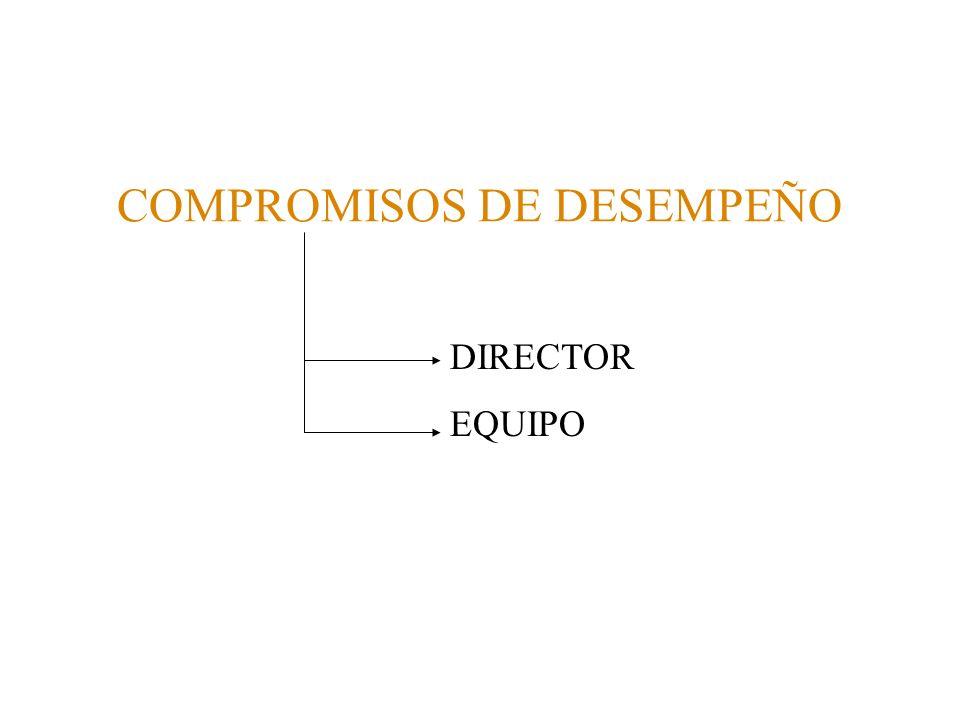 COMPROMISOS DE DESEMPEÑO