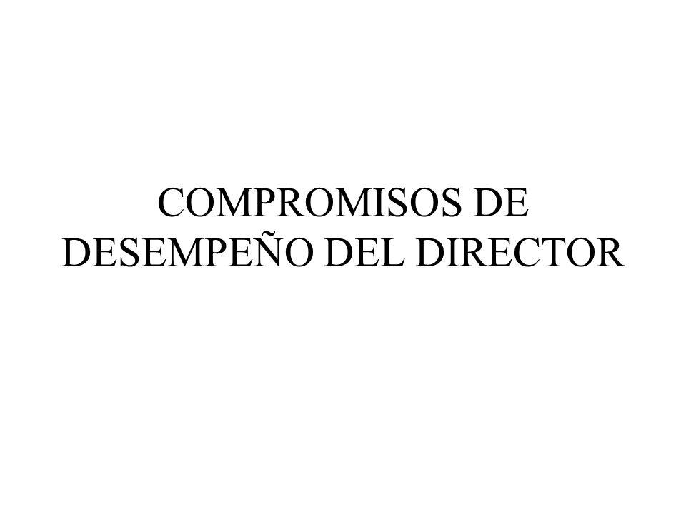 COMPROMISOS DE DESEMPEÑO DEL DIRECTOR