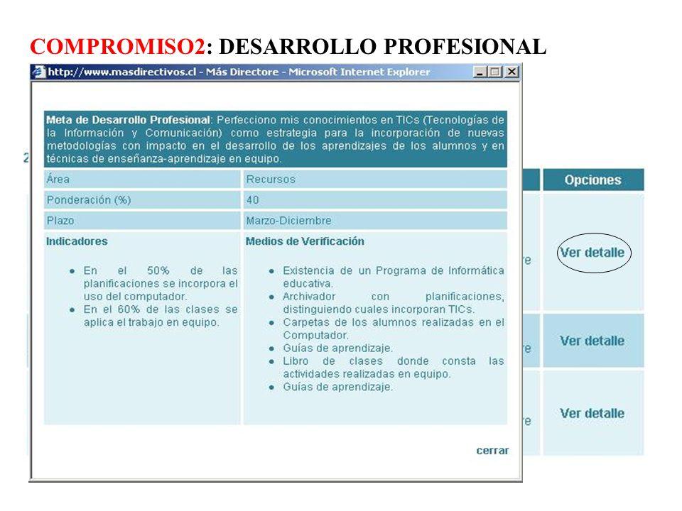 COMPROMISO2: DESARROLLO PROFESIONAL