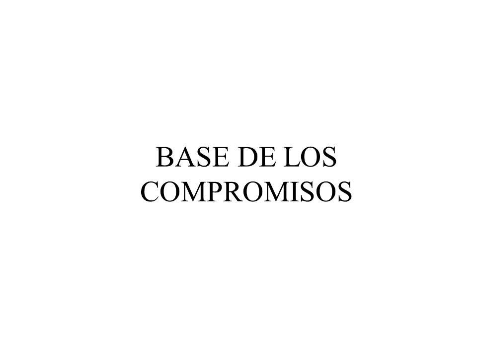 BASE DE LOS COMPROMISOS