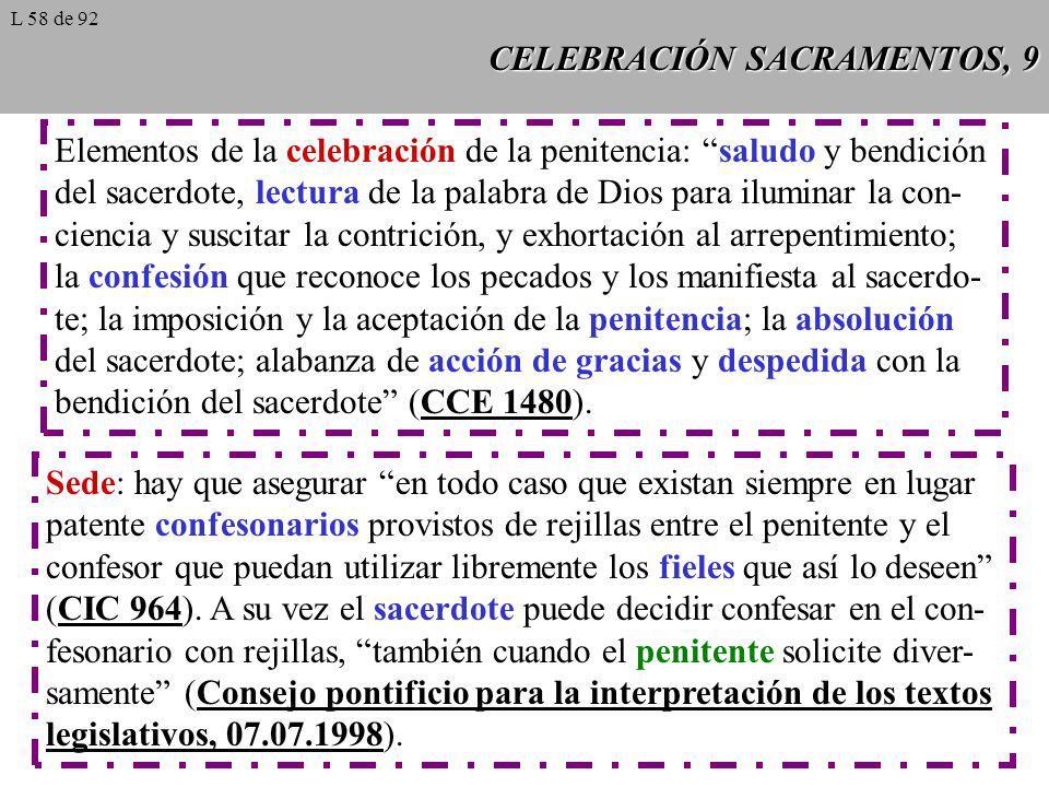 CELEBRACIÓN SACRAMENTOS, 9