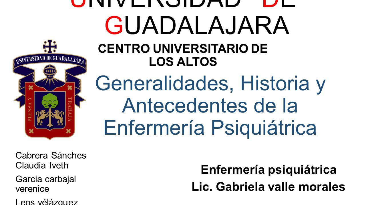 Generalidades, Historia y Antecedentes de la Enfermería Psiquiátrica