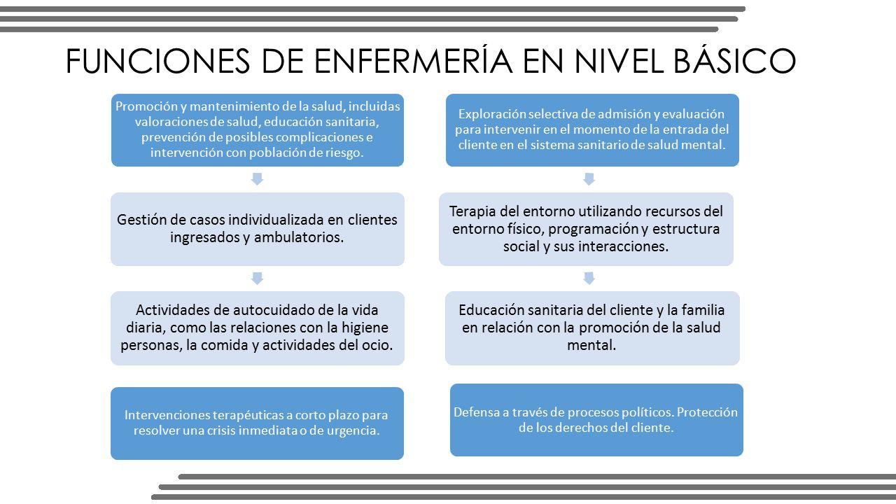 FUNCIONES DE ENFERMERÍA EN NIVEL BÁSICO