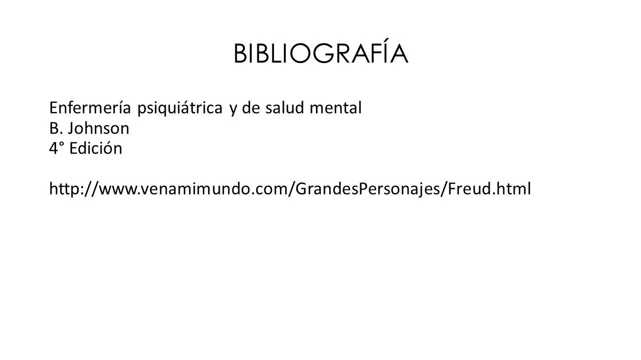 BIBLIOGRAFÍA Enfermería psiquiátrica y de salud mental B.
