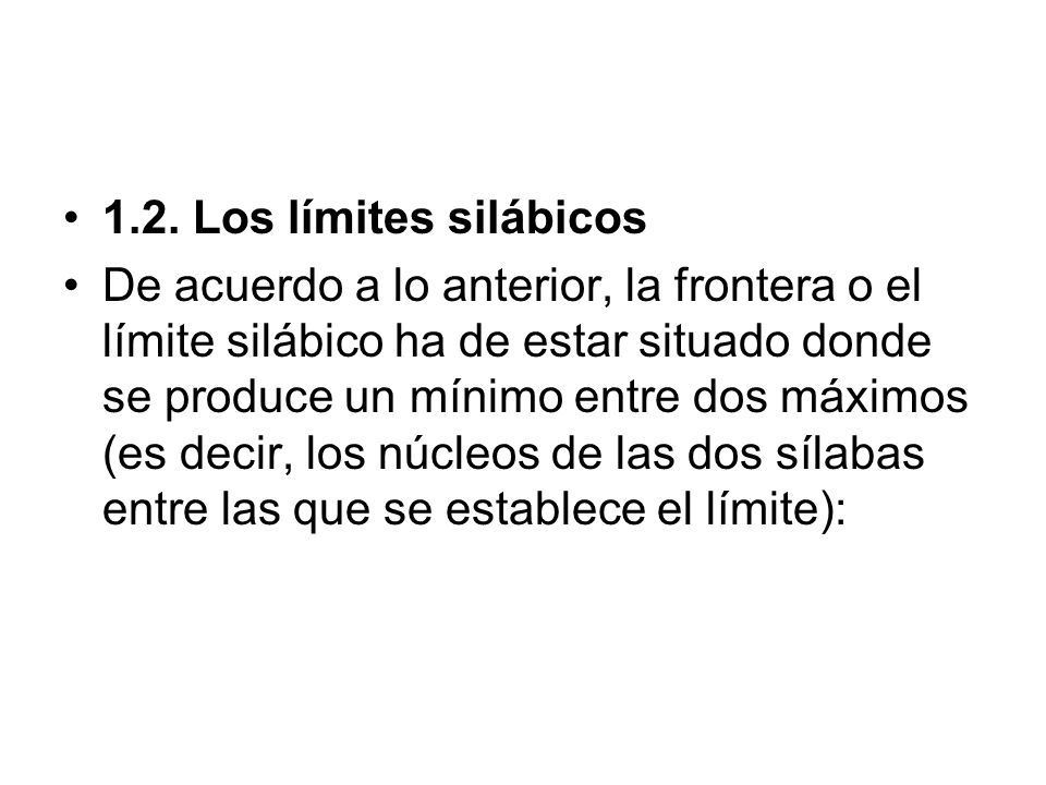 1.2. Los límites silábicos