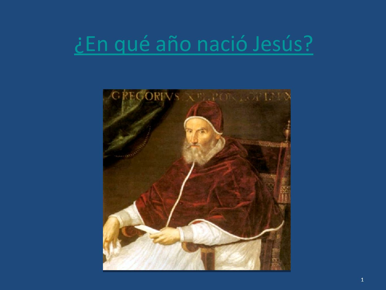 ¿En qué año nació Jesús