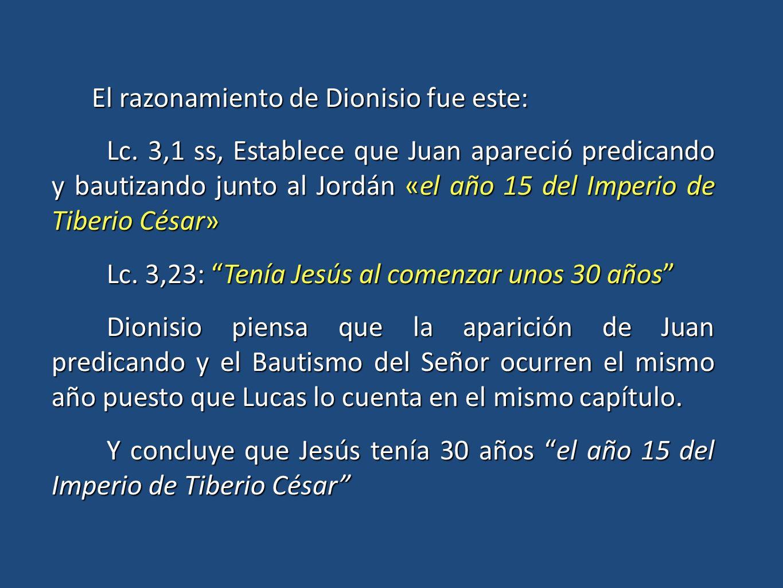 El razonamiento de Dionisio fue este: