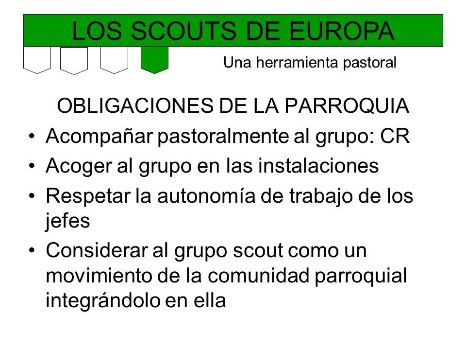 LOS SCOUTS DE EUROPA OBLIGACIONES DE LA PARROQUIA