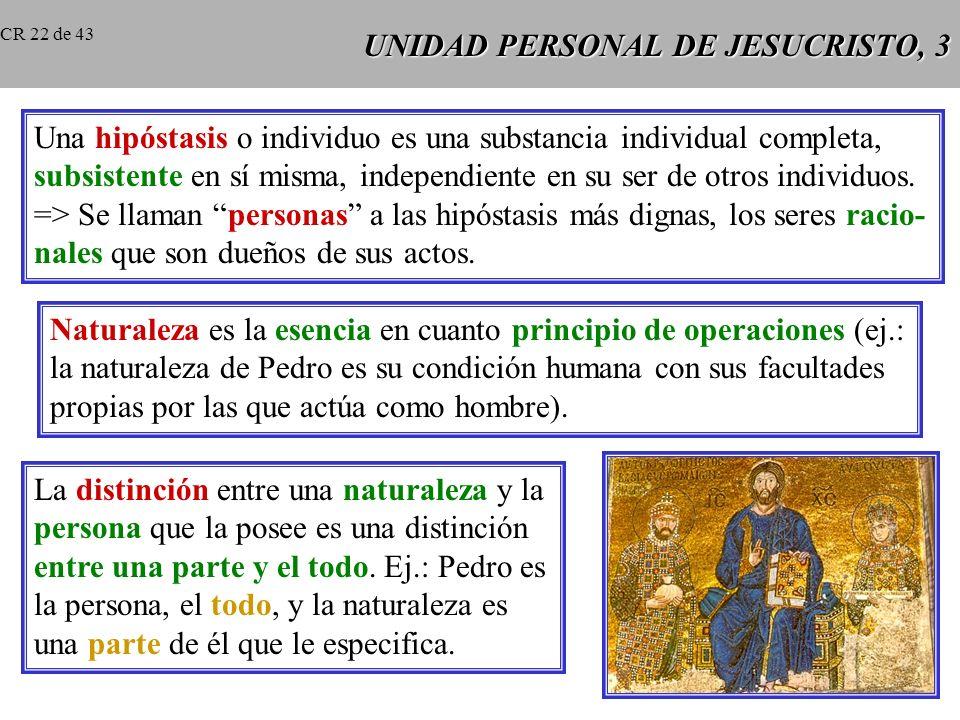 UNIDAD PERSONAL DE JESUCRISTO, 3