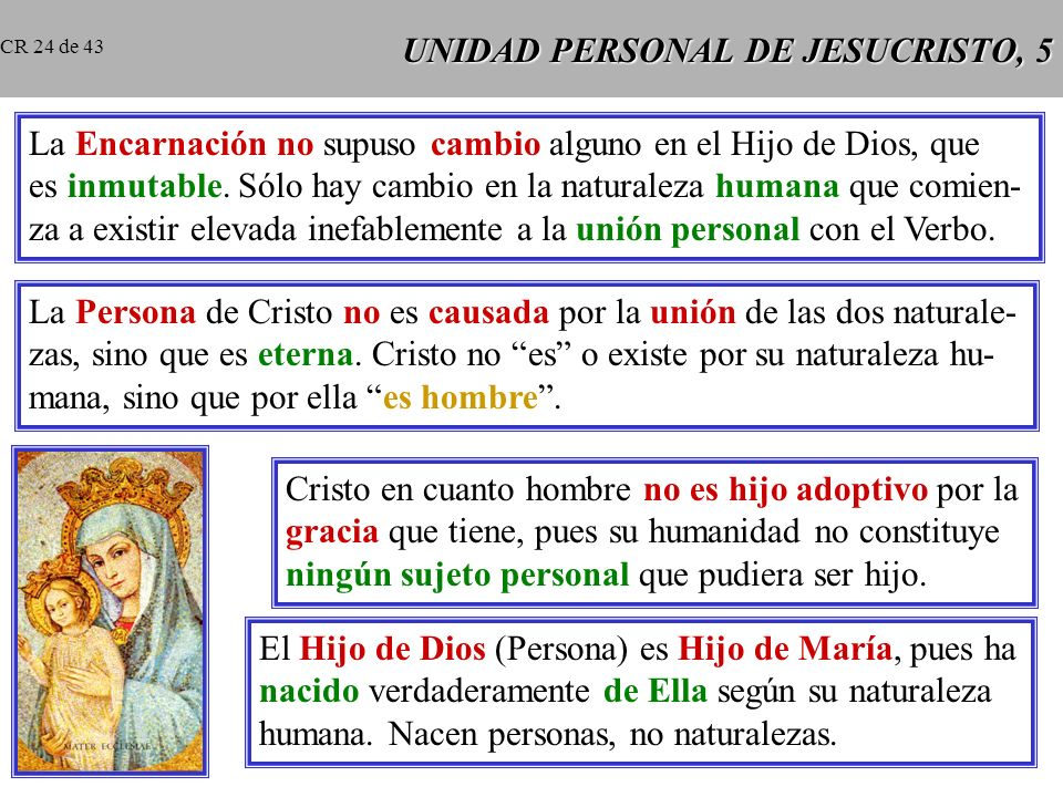 UNIDAD PERSONAL DE JESUCRISTO, 5