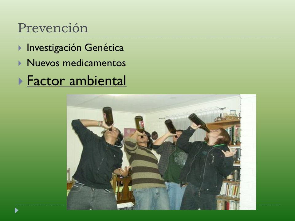 Prevención Investigación Genética Nuevos medicamentos Factor ambiental