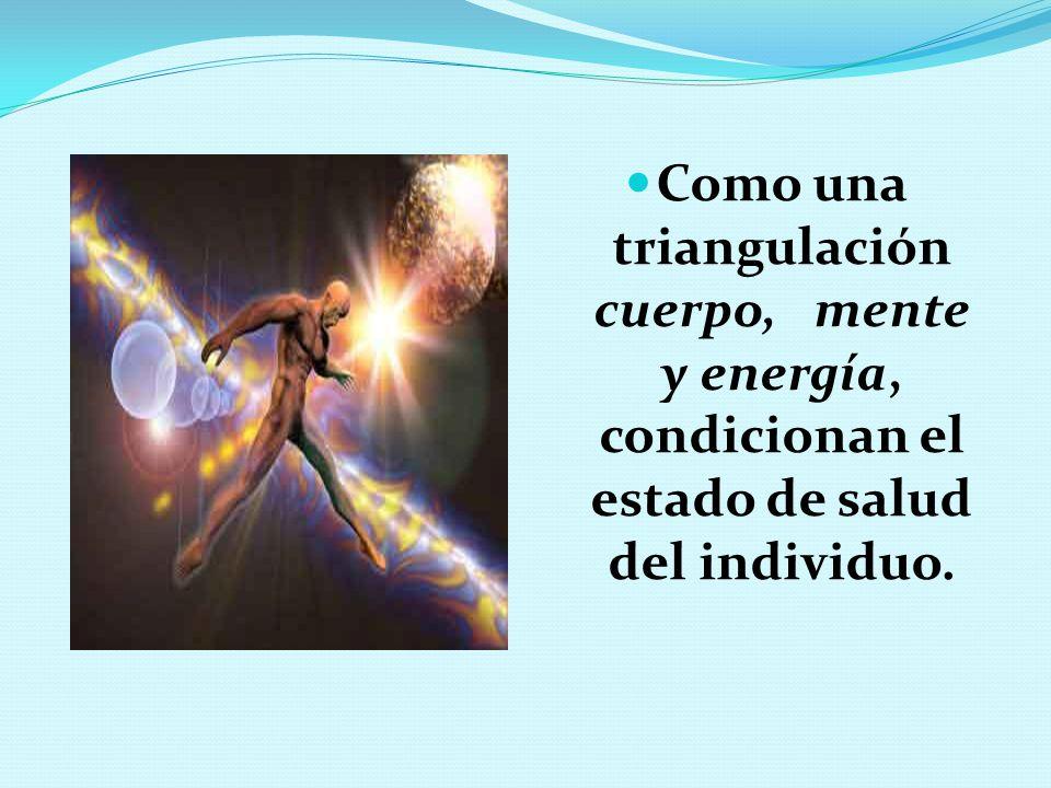Como una triangulación cuerpo, mente y energía, condicionan el estado de salud del individuo.