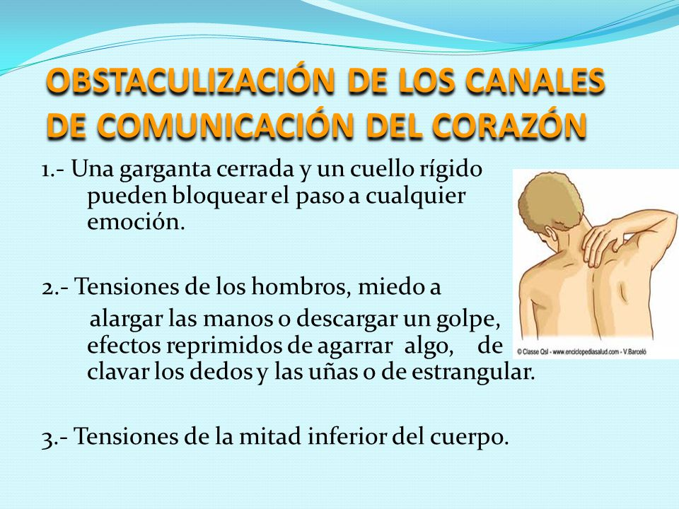 OBSTACULIZACIÓN DE LOS CANALES DE COMUNICACIÓN DEL CORAZÓN