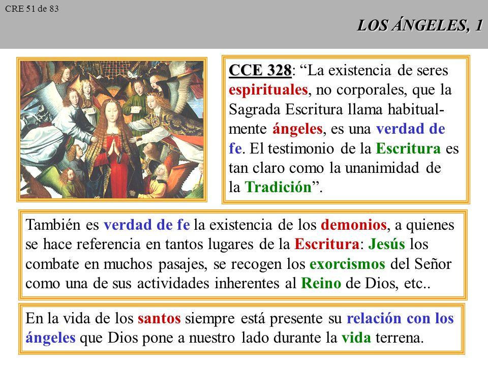 CCE 328: La existencia de seres espirituales, no corporales, que la