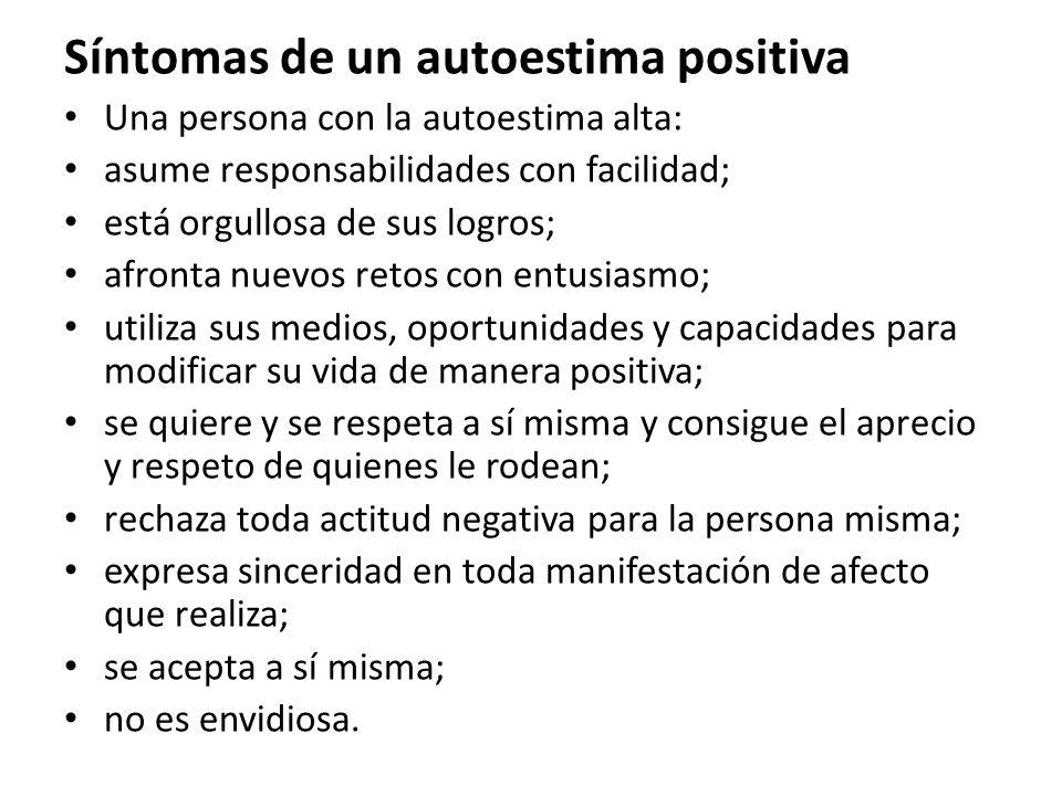 Síntomas de un autoestima positiva
