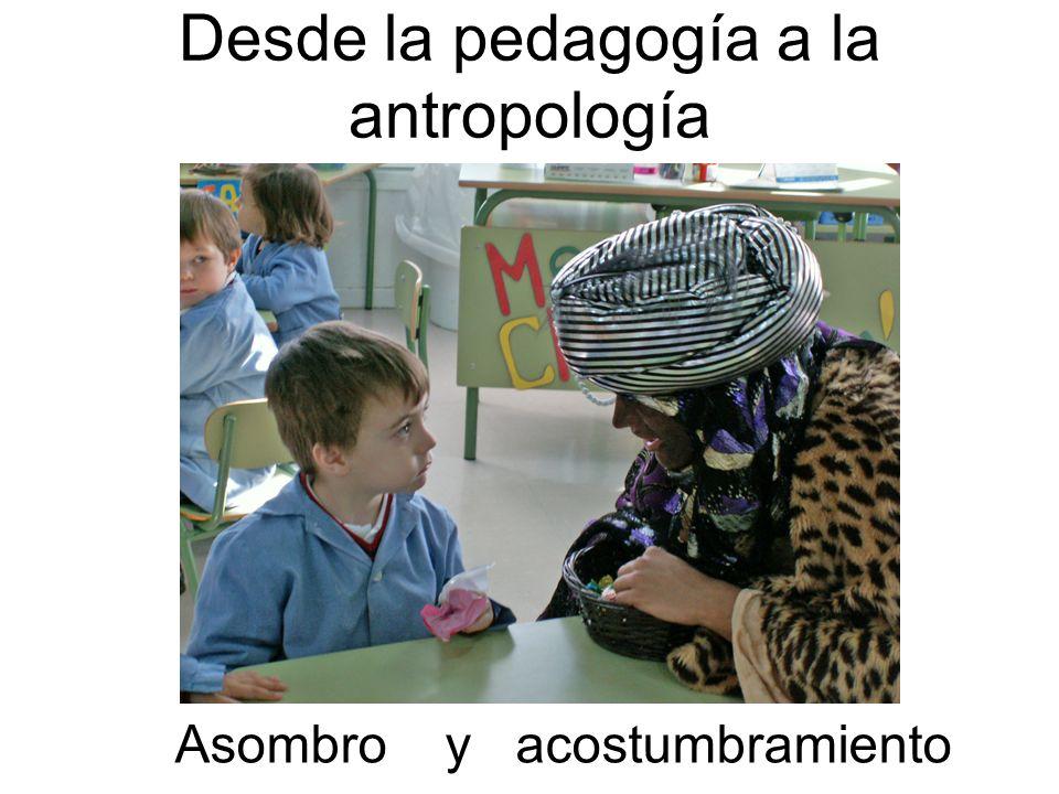 Desde la pedagogía a la antropología
