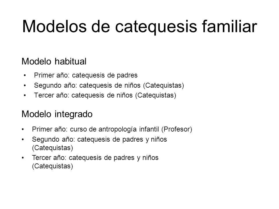 Modelos de catequesis familiar