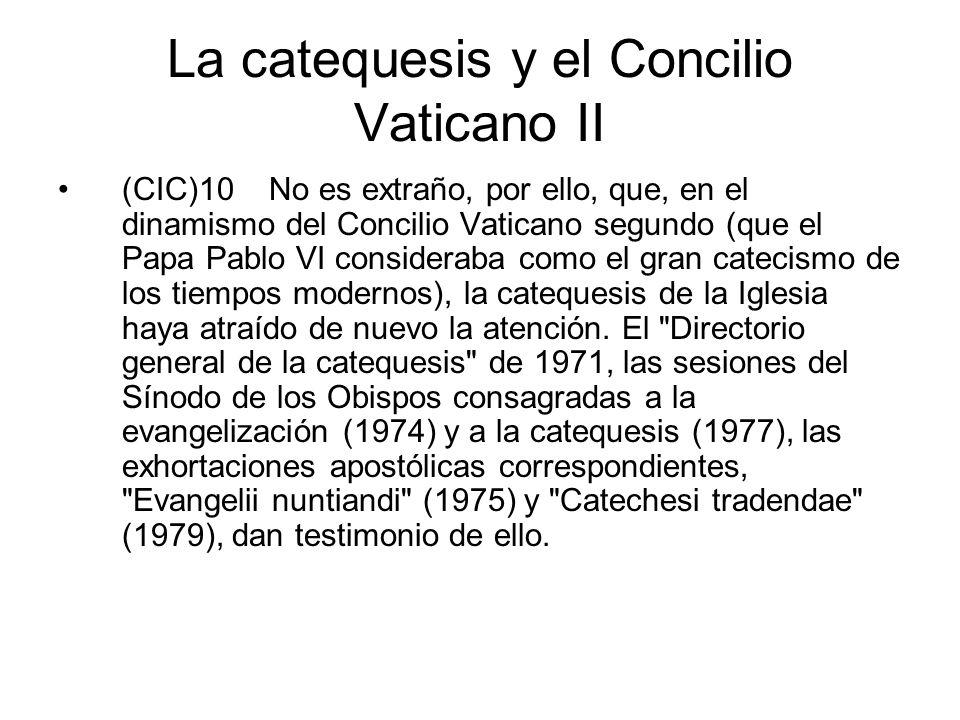 La catequesis y el Concilio Vaticano II